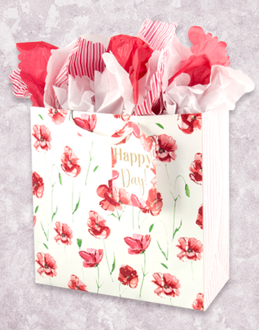 Happy Poppies (Square Jumbo) Gift Bags
