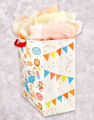 Zoo Birthday Bash (Square Jumbo) Gift Bags