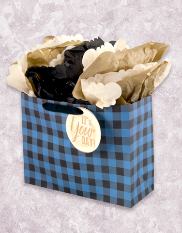 Blue Flannel Plaid (Market) Gift Bags