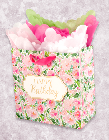 Blooming Birthday (Medium Square) Gift Bags