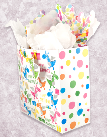 Dragon's Birthday (Square Jumbo) Gift Bags