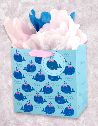 Sweet Whales (Medium Square) Gift Bags