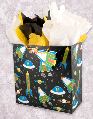 Space Adventure (Square Jumbo) Gift Bags