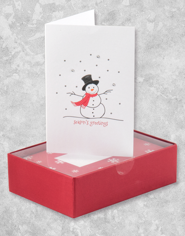 Snowman Greetings (16 Count Boxed Christmas Cards)