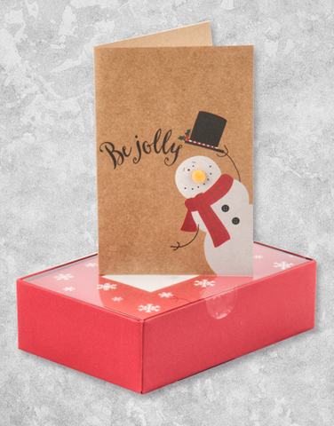 Hats Off Snowman (16 Count Boxed Christmas Cards)