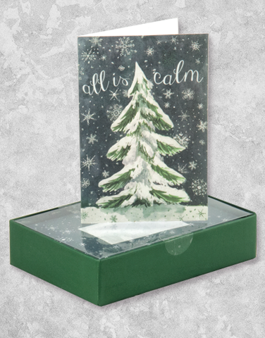 All Is Calm Tree (16 Count Boxed Christmas Cards)