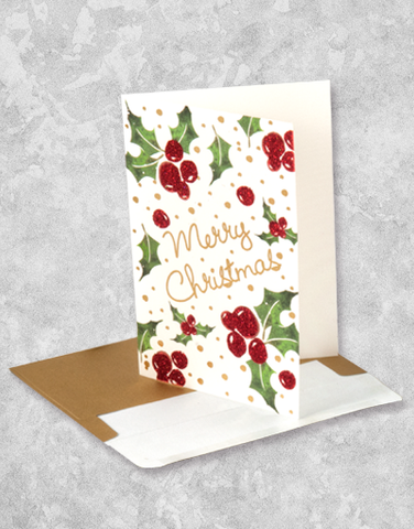 Christmas Berries (16 Count Boxed Christmas Cards)