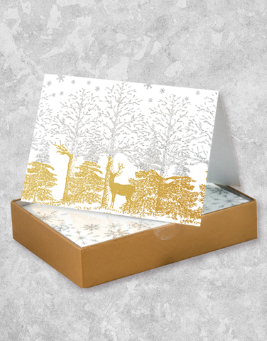Shimmering Forest (16 Count Boxed Christmas Cards)