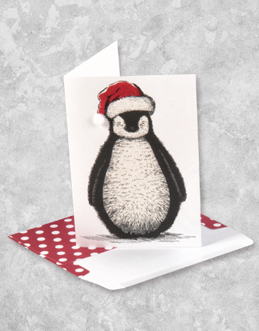 Christmas Penguin (10 Count Boxed Christmas Cards)