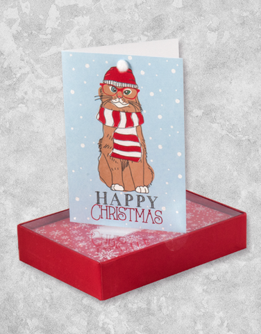 Christmas Hipster (10 Count Boxed Christmas Cards)