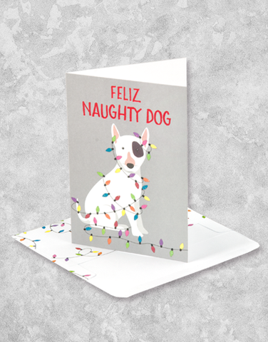 Feliz Naughty Dog (16 Count Boxed Christmas Cards)