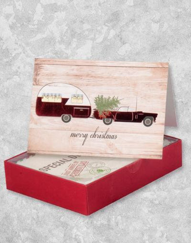 Holiday on Wheels (16 Count Boxed Christmas Cards)