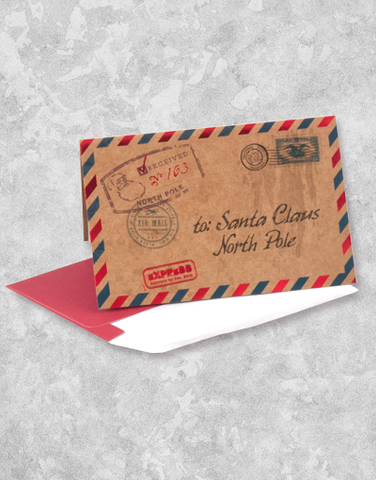 Airmail for Santa (16 Count Boxed Christmas Cards)
