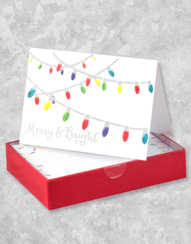 Bright Bulbs (16 Count Boxed Christmas Cards)