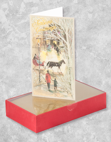 Vintage Christmas City (16 Count Boxed Christmas Cards)