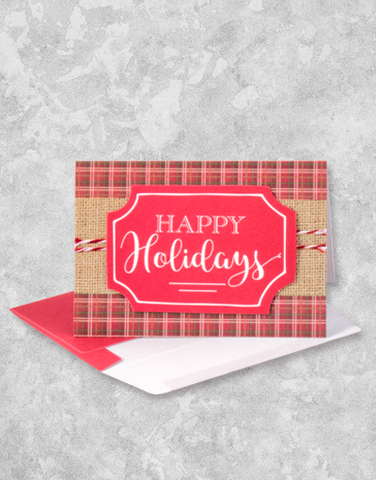 Plaid & Burlap Holiday (10 Count Boxed Christmas Cards)