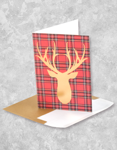 Tartan Deer (16 Count Boxed Christmas Cards)