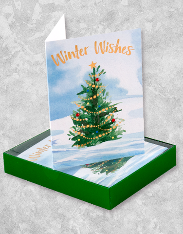 Garland Tree (16 Count Boxed Christmas Cards)