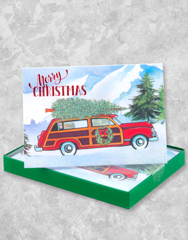 Bringing Home Christmas (12 Count Boxed Christmas Cards)