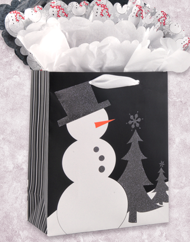 Charcoal Snowman Gift Bags