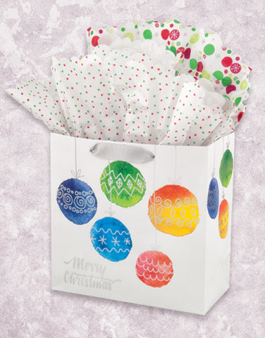 Joyous Ornaments (Medium Square) Gift Bags