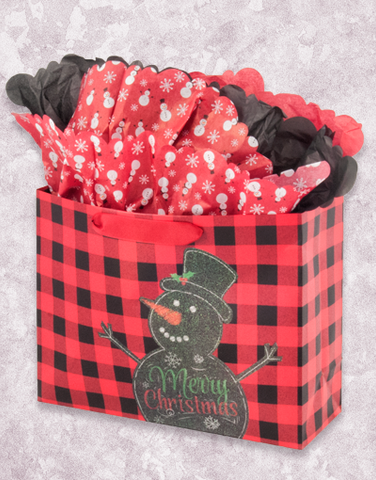 Snowman Flannel (Market) Gift Bags