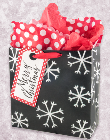 Painted Snowflakes (Square Jumbo) Gift Bags