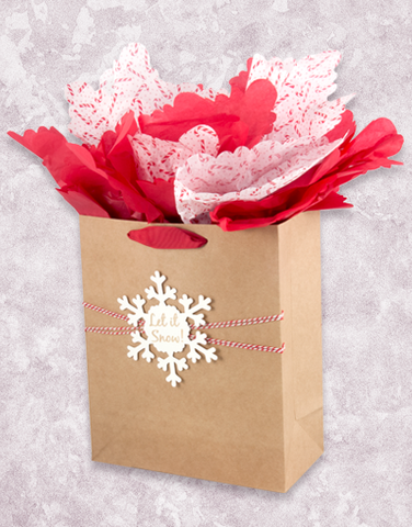 Let It Snow Kraft (Garden) Gift Bags