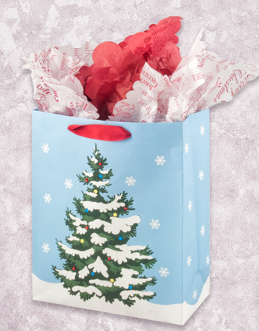 Snow Covered Christmas Tree (Garden) Gift Bags