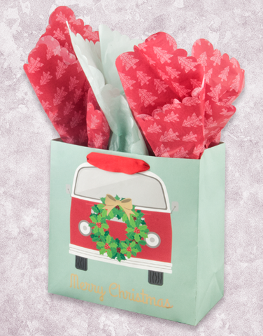 Christmas Van (Medium Square) Gift Bags