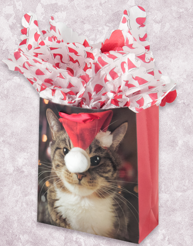 Christmas Kitty (Garden) Gift Bags