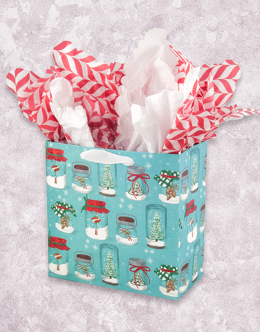 Mason Jar Christmas (Medium Square) Gift Bags