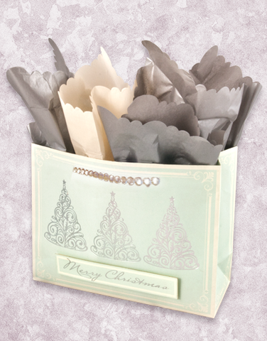 Elegant Silver Trees (Market) Gift Bags
