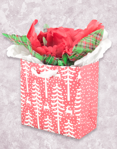 Alpine Reindeer Red (Medium Square) Gift Bags