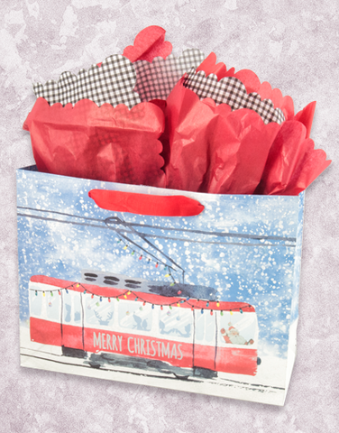 Christmas Street Car (Market) Gift Bags