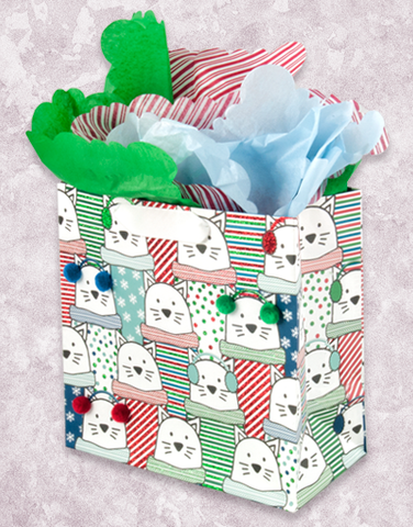 Mix and Match Cats (Medium Square) Gift Bags