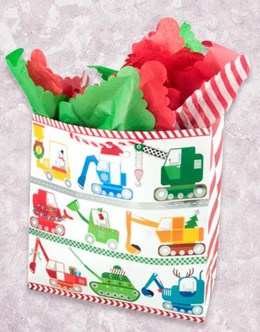 Christmas Toy Trucks (Square Jumbo) Gift Bags