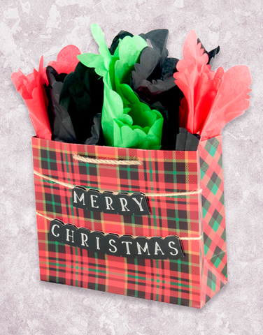 Merry Christmas Tartan Plaid (Studio) Gift Bags