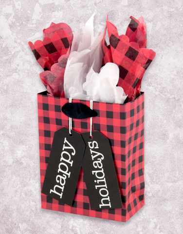 Warm Holiday Plaid (Petite) Gift Bags