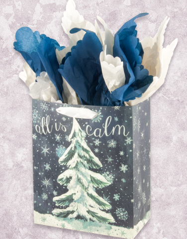 All Is Calm Tree (Petite) Gift Bags