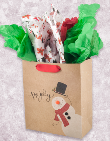 Hat's off Snowman (Petite) Gift Bags