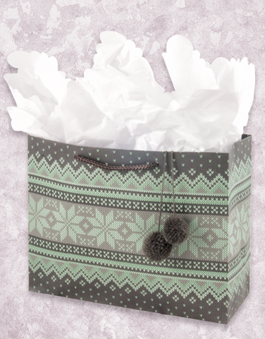 Mint Sweater (Petite) Gift Bags