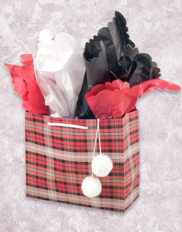 Winter Plaid Red (Petite) Gift Bags