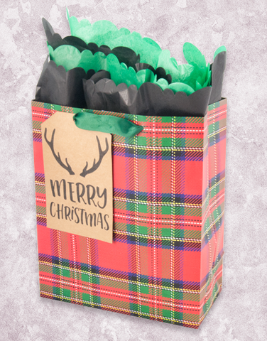 Antlers & Plaid (Garden) Gift Bags