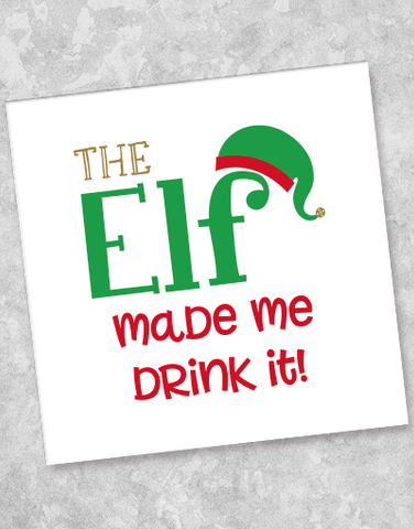 Elves Are Watching Beverage Napkins (36 Count)