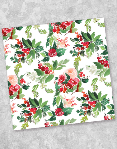 Christmas Roses Luncheon Napkins (40 Count)