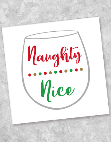 Naughty or Nice Beverage Napkins (40 Count)