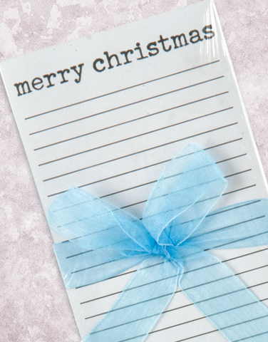 Watercolor Frosty Shopping List Pad