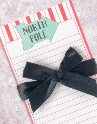 North Pole Arrow Shopping List Pad