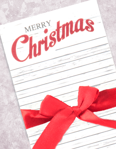 Little Red Christmas Wagon Shopping List Pad